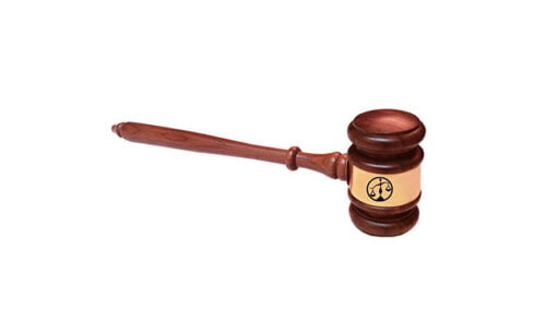 Scales of Justice Gavel