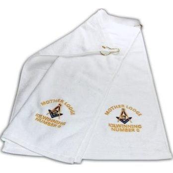Mason Blue Lodge Golf Towel Freemason