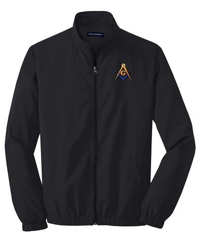 Order of The Eastern Star Windbreaker OES Jacket Black