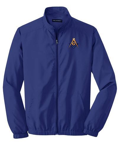 Mason Blue Lodge Windbreaker Jacket Royal