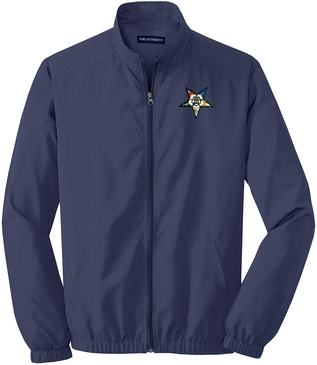 Order of The Eastern Star Windbreaker OES Jacket Navy