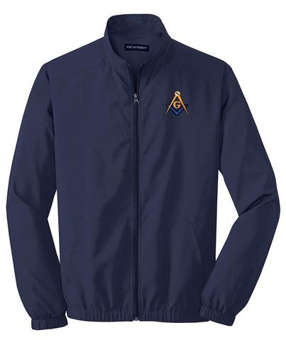 Mason Blue Lodge Windbreaker Jacket Navy