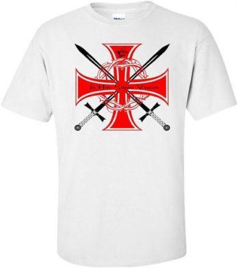 Knights Templar Crossed Swords T Shirt Knights Templar Crossed Swords