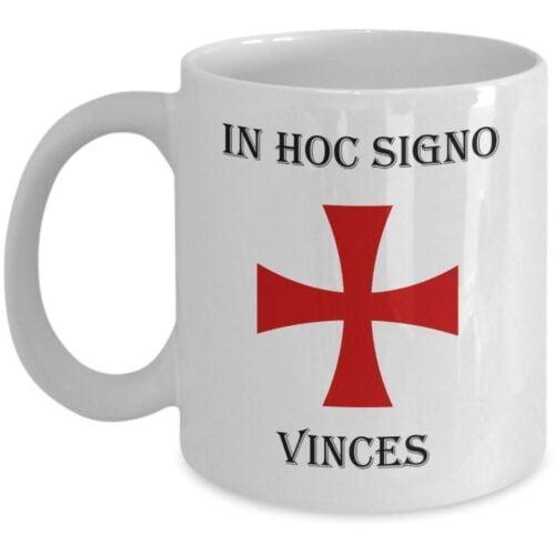 IN HOC SIGNO VINCES KNIGHTS TEMPLAR MASONIC COFFEE MUG