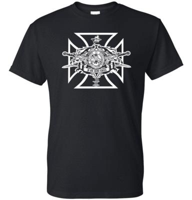 Knights Templar Swords Seal T Shirt Home Crossed Swords
