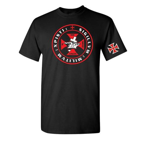 Knights Templar Crown and Cross T-Shirt