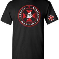 Knights Tempar Crown and Cross Mens T Shirt B01BVV9RKU