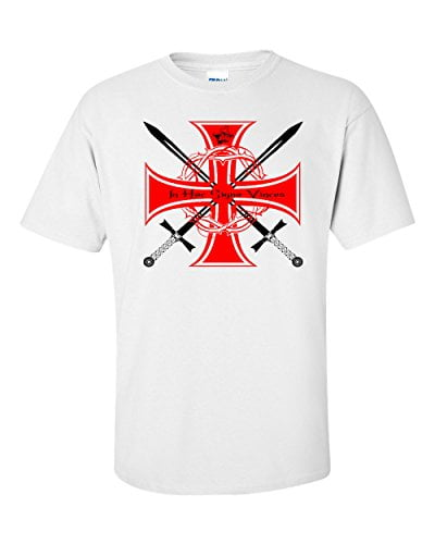 Knights Templar In Hoc Sign Vinces T Shirt B00SW5FHWQ