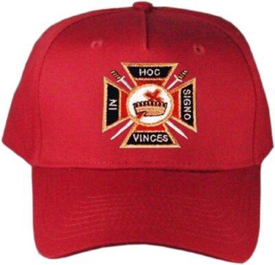 Knights Templar Masonic Hat Red B007PWZ6E6