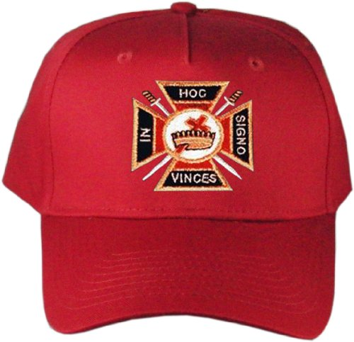 Knights Templar Masonic Hat Red B007PWZ6E6
