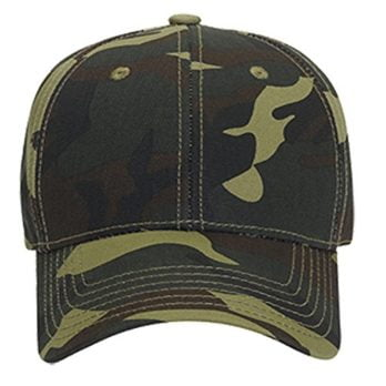 Logoz USA Camouflage Garment Washed Cotton Twill SIX Panel Low Profile Baseball Cap