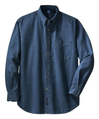 PORT AND COMPANY Long Sleeve Value Denim Shirt (SP10) Home