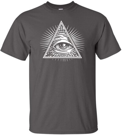Variation 1LogozEYECHARCL of Logoz USA Eye of Providence 8211 All Seeing Eye Men039s T Shirt B01BVTR5VK 3532
