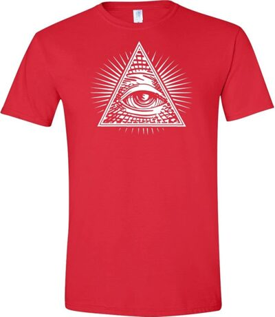 Variation 1LogozEYERED4X of Logoz USA Eye of Providence 8211 All Seeing Eye Men039s T Shirt B01BVTR5VK 3551