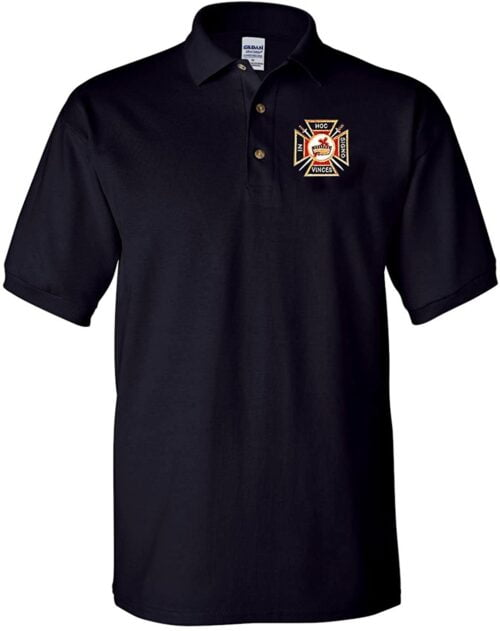 Variation 1LogozUSATEMPLARPoloBLCKL of Logoz USA Knights Templar Polo Golf Shirt B00VCIUU4U 3505