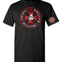 Variation 1LogozXPISTIBLCKM of Knights Tempar Crown and Cross Men039s T Shirt B01BVV9RKU 3455