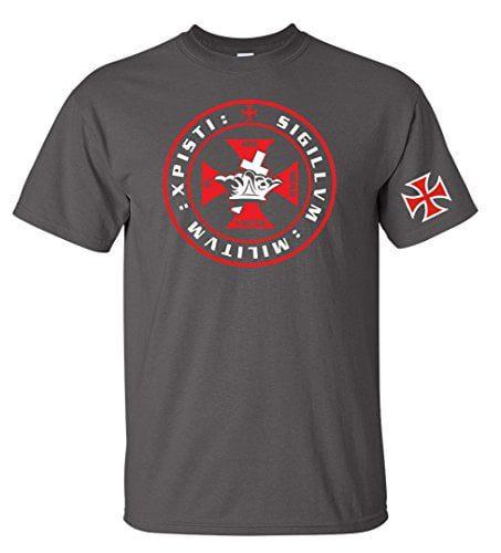 Variation 1LogozXPISTICHARCS of Knights Tempar Crown and Cross Men039s T Shirt B01BVV9RKU 3451