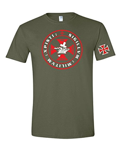 Knights Templar Crown and Cross Mens T-Shirt Knights Templar [tag]