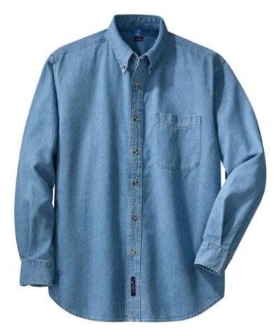 Variation 41 DIPZ UMXI of PORT AND COMPANY Long Sleeve Value Denim Shirt SP10 B07C5SMSN9 3446