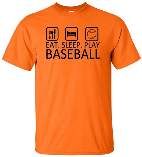 Variation BASEEATSLEEPTOS of Logoz USA Eat Sleep Play Baseball T Shirt B00U2HK4FM 3405