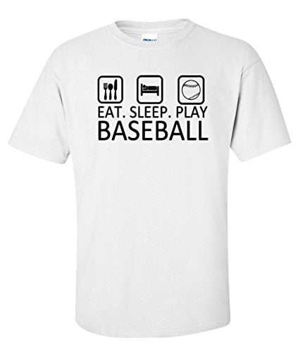 Variation BASEEATSLEEPTWS of Logoz USA Eat Sleep Play Baseball T Shirt B00U2HK4FM 3409