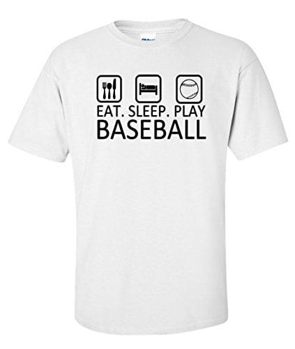 Variation BASEEATSLEEPTWS of Logoz USA Eat Sleep Play Baseball T Shirt B00U2HK4FM 3409