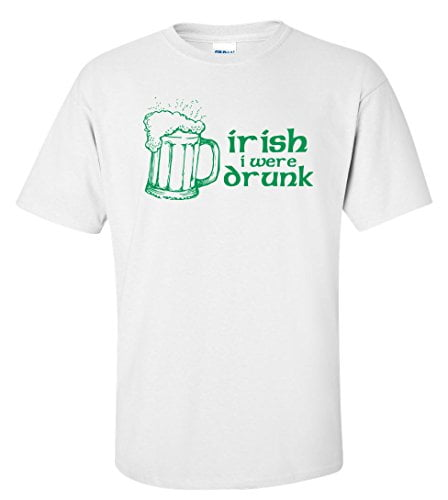 Variation IRISHWERETWS of Logoz USA Irish I were Drunk T Shirt B00U7TIMK4 3220