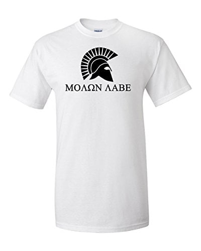 Variation LogozMolonLabeTShirt1 SWhite of Logoz USA Molon Labe T Shirt B01FOUD6M4 2835