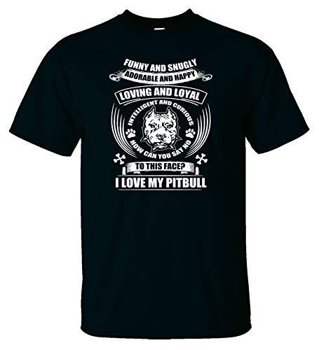 Variation LogozPitBullFunnySnuglyATBS of Logoz USA Pitbull Funny and Snugly Adorable and Happy T Shirt B07K1LY7T8 2753