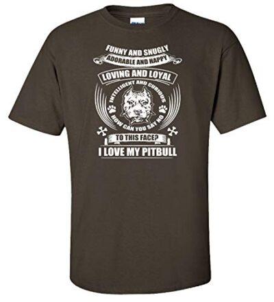 Variation LogozPitBullFunnySnuglyATCHARS of Logoz USA Pitbull Funny and Snugly Adorable and Happy T Shirt B07K1LY7T8 2757