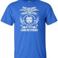 Variation LogozPitBullFunnySnuglyATRYM of Logoz USA Pitbull Funny and Snugly Adorable and Happy T Shirt B07K1LY7T8 2762