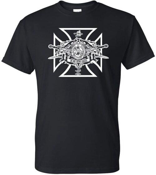 Variation LogozSSBLBL of Logoz USA Knights Templar Swords and Seal Mason Blue Lodge Masonic Biker T Shirt B06XGQYFVX 2699