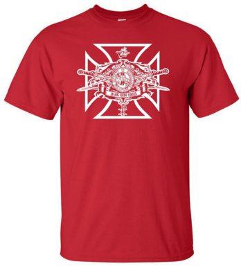 Logoz USA Knights Templar Swords and Seal Mason Blue Lodge Masonic Biker T Shirt