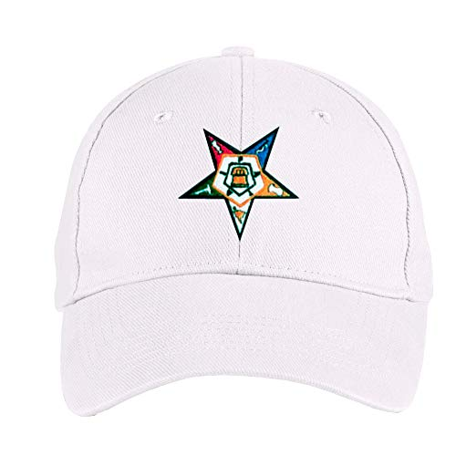 Variation OES00001HATWHITE of Order of The Eastern Star Masonic OES Ball Cap B084Q5K4MB 2630