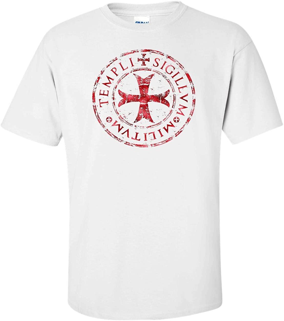 Variation TEMPLARDES1TW2X of Logoz USA Knights Templar T Shirt Templi Sigillvm Militvm B00U7U42YI 2572