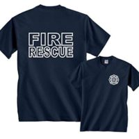 Fire Rescue Maltese Cross Firefighter Badge Front & Back Home