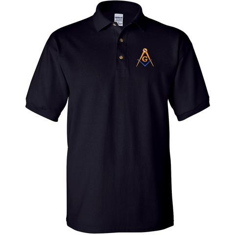 Mason Blue Lodge Polo Golf Shirt Freemason Blue Lodge
