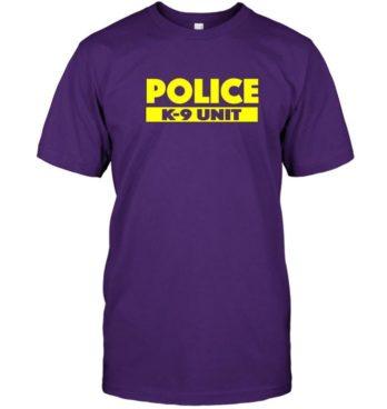 K 9 Police Officer T Shirt LEO K 9 Law Enforcement Tee