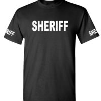 SHERIFF – Cotton T-Shirt Tee Shirt Home