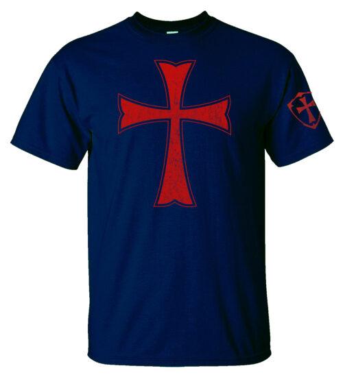 Knights Templar Crusader Cross Men's T-Shirt Home Crusader