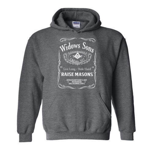 Widow Son Biker Masonic Freemason Hoodie Home Biker Hood