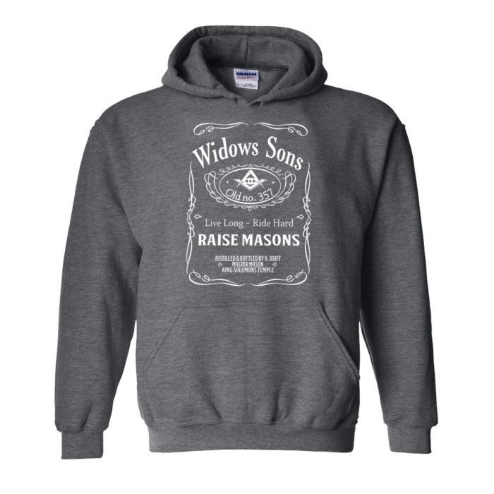 Widow Son Biker Masonic Freemason Hoodie Home Biker Hood