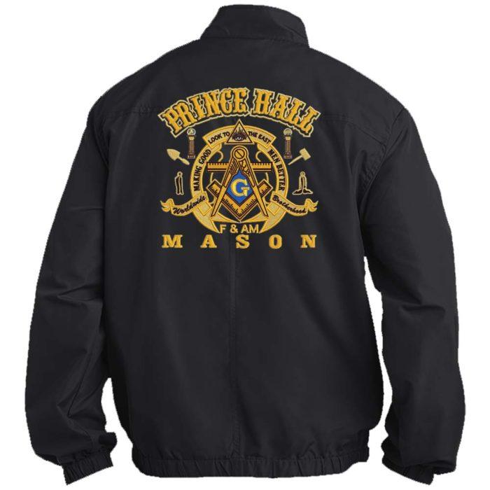 Mason Prince Hall Fullback Jacket Embroidered Masonic Freemason Prince Hall Jackets