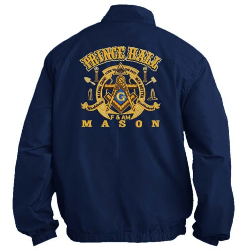 Mason Prince Hall Fullback Jacket Embroidered Masonic Freemason Prince Hall Jackets