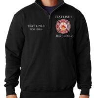 Personalized Firefighter Job Shirt Job Fleece Zip Firefighter Job Shirt Champion Brand Firefighters