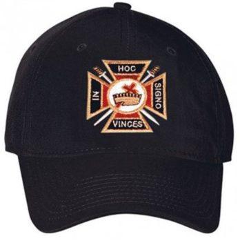 Logoz USA Knights Templar Masonic Hat Black
