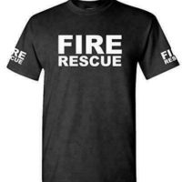 FIRE RESCUE – ems emt emergency service – Mens Cotton T-Shirt Firefighters Fire Rescue